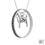 Sterling Silver Chihuahua Pendant Necklace, Chihuahua Fine Jewelry, Chihuahua Gifts, Chihuahua Lovers, Chihuahua High End Jewelry