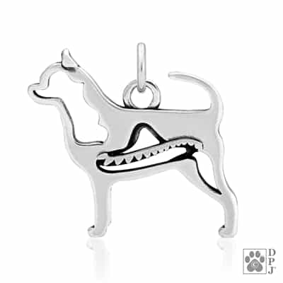 Sterling Silver Smooth Coat Chihuahua Charm, Chihuahua Pendant Necklace, Chihuahua Jewelry Gifts, Chihuahua Lovers