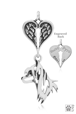 Sterling Silver Chinese Crested Memorial -- new