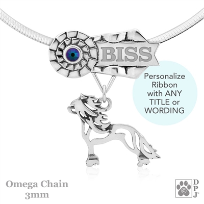 Personalized Best In Show Chinese Crested Jewelry, Best In Show Chinese Crested Pendant Necklace, Grand Champion Chinese Crested