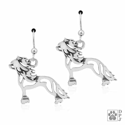 Chinese Crested Breed Jewelry, Chinese Crested Earrings, Chinese Crested Gift
