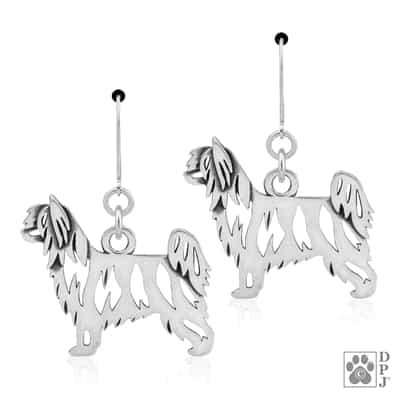 Chinese Crested Jewelry, Chinese Crested Earrings, Chinese Crested Gift, Sterling Silver Chinese Crested Jewelry