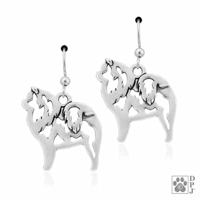 Chow Chow Earrings, Chow Chow Earring Body, Chow Chow Jewelry, Chow Chow Gifts