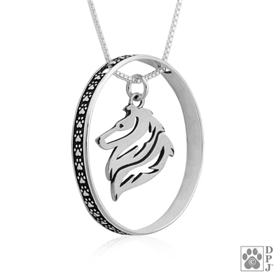Collie Pendant, Collie Charm, Collie Necklace, Collie Jewelry, Collie Gifts, Rough Coat Collie