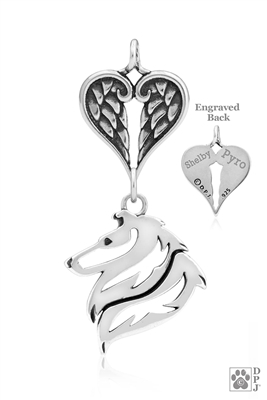 Sterling Silver Collie Rough Coat Memorial -- new