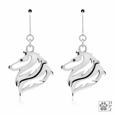 Rough Coat Collie Earrings, Collie Earrings, Collie Jewelry, Collie Gifts