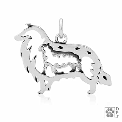 Rough Coat Collie Charm, Collie Necklace, Collie Jewelry, Collie Gifts