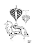 Sterling Silver Collie w/Sheep Memorial Jewelry -- retired
