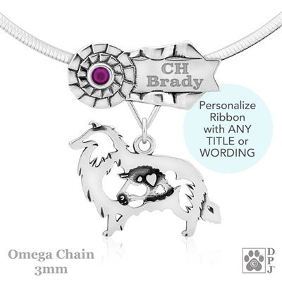 Personalized Best In Show Rough Coat Collie Jewelry, Best In Show Collie Pendant Necklace, Grand Champion Collie