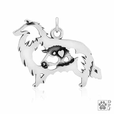 Rough Coat Collie Pendant, Collie Necklace, Collie Pendant, Collie Charm, Collie Jewelry, Collie Gifts