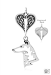 Personalized Smooth Coat Collie Angel Wing Necklace, Collie Memorial Pendant Jewelry, Collie Sympathy Gifts