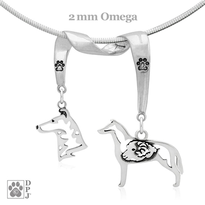 Smooth Coat Collie Necklace, Smooth Coat Collie Jewelry, Collie Necklace, Collie Jewelry, Collie Gifts
