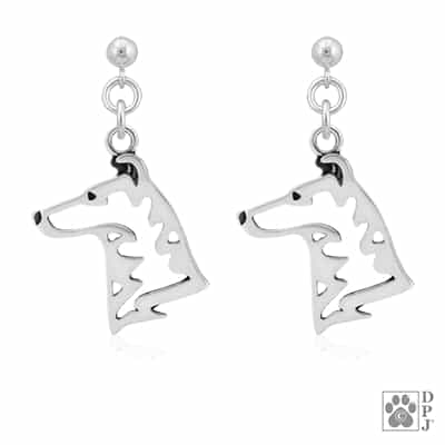 Smooth Coat Collie Earrings, Collie Gifts, Collie Jewelry, Collie Earrings