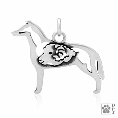 Sterling Silver Smooth Coat Collie Pendant, Collie Jewelry, Collie Necklace, Collie Charm, Collie Gifts, Collie Lovers
