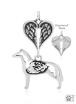 Sterling Silver Smooth Coat Collie w/Ram Memorial Jewelry -- new