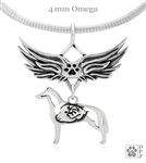 Sterling Silver Collie Pendant, Smooth Coat, w/Ram in Body, w/Tears In Heaven -- new