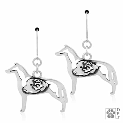 Smooth Coat Collie Earring, Collie Earrings, Collie Jewelry, Collie Gifts