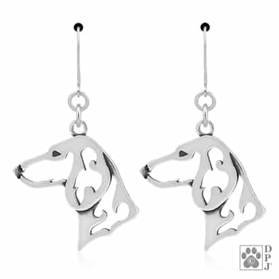 Dachshund Smooth Coat Earrings, Doxy Gift