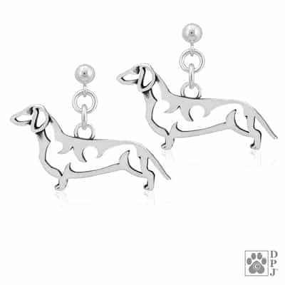 Dachshund Smooth Coat Jewelry, Doxy Earrings