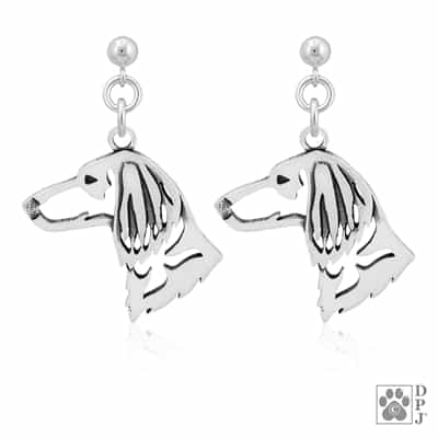 Sterling Silver Longhaired Dachshund Earrings, Doxie Jewelry, Dachshund Gifts, Dachshund Lovers