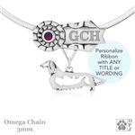 Best In Show Longhaired Dachshund Jewelry, Best In Show Dachshund Pendant, Best In Show Dachshund Necklace