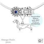 Best In Show Wirehaired Dachshund Jewelry, Best In Show Dachshund Pendant, Best In Show Dachshund Necklace
