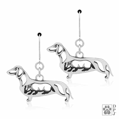Smooth Coat Dachshund Earrings, Doxy Earring, Dachshund Earrings