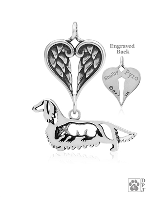 Dachshund Memorial Jewelry, Dachshund Memorial Gifts, Dachshund Memorial Necklace