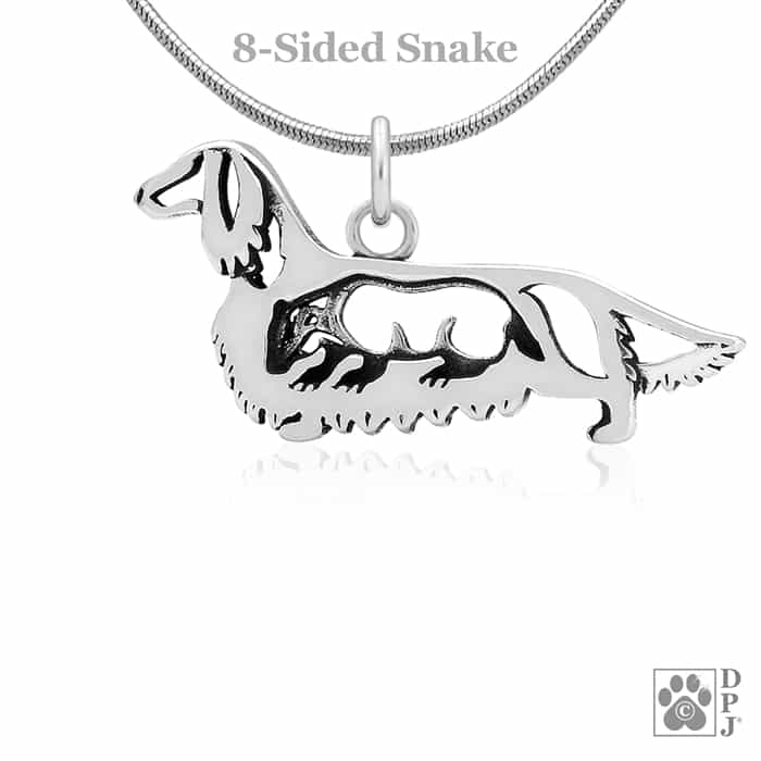 Dachshund Gift for Dachshund Lovers Silver Dachshund Jewelry Set WIRE HAIRED Dachshund Wire Haired Earrings /& Pendant Necklace Set