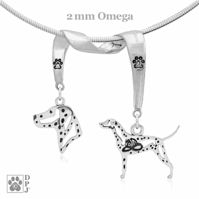 Fine Dalmatian Jewelry Gifts, Sterling Silver Dalmatian Pendant Necklace, Grand Champion Dalmatian, Best in Show Dalmatian