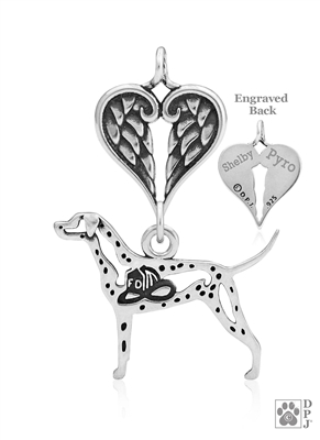 Dalmatian Memorial Jewelry, Dalmatian Memorial Necklace, Dalmatian Memorial Gift