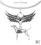Sterling Silver Dalmation Pendant, w/Fire Hat in Body, w/Tears In Heaven -- new