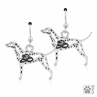 Dalmatian Earring, Dalmatian Jewelry, Dalmatian Earrings, Dalmatian Gift