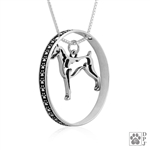 Sterling Silver Doberman Pendant Necklace, Doberman Fine Jewelry, Doberman Gifts, Doberman Lovers