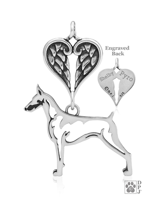 Doberman Pinscher Memorial Jewelry, Doberman Pinscher Memorial Gifts, Doberman Pinscher Memorial Keepsake, Doberman Memorial Jewelry, Doberman Memorial Gift, Doberman Memorial Necklace