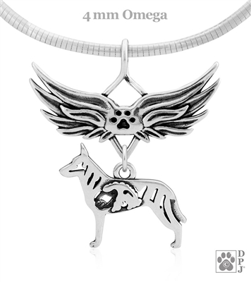Dutch Shepherd Memorial Jewelry, Dutch Shepherd Memorial Necklace, Dutch Shepherd Memorial Gift