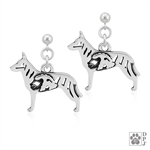 Dutch Shepherd Earrings, Dutch Shepherd Earring, Dutch Shepherd Jewelry, Dutch Shepherd Gift