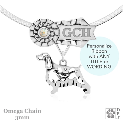 Best In Show English Springer Spaniel Jewelry, Best In Show English Springer Spaniel Pendant, Best In Show English Springer Spaniel Necklace