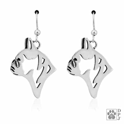 Sterling Silver French Bulldog Earrings, French Bulldog Jewelry, Frenchie Gifts, Frenchie Lovers