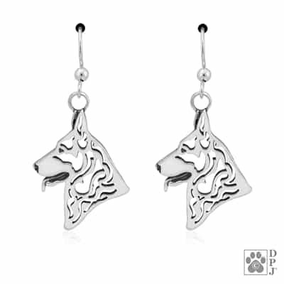 German Shepherd Earrings, German Shepherd Gifts, German Shepherd Jewelry