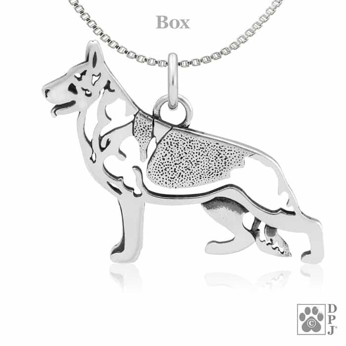 Sterling silver german shepherd dog jewelry german shepherd charm price 3650 aloadofball Image collections