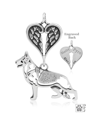 German Shepherd Memorial Jewelry, German Shepherd Memorial Gift, German Shepherd Memorial Necklace