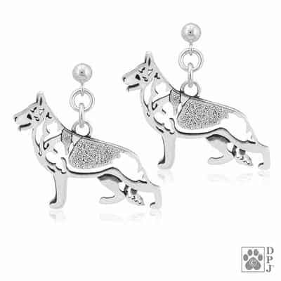 German Shepherd Earrings, German Shepherd Earring, German Shepherd Jewelry, German Shepherd Gift