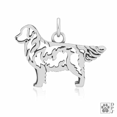 Golden Retriever Pendant, Golden Retriever Charm
