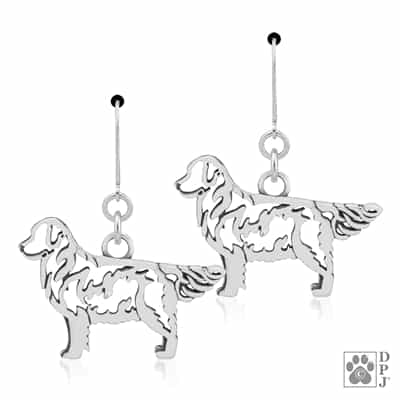 Goldent Retriever Earring, Golden Retriever Earrings