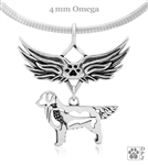 Sterling Silver Golden Retriever Pendant, w/Pheasant in Body, w/Tears In Heaven -- new