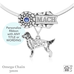 Goldendoodle Ribbon Jewelry made in the USA