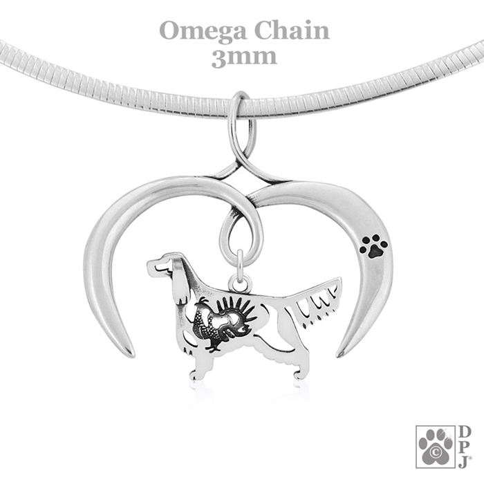 Setter Photojewelry Necklace pendant for people who love dogs Handmade.