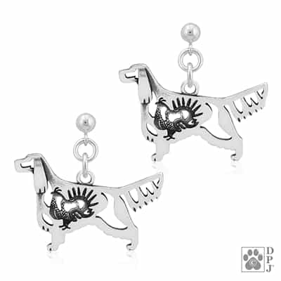 Gordon Setter Earrings, Gordon Setter Earring