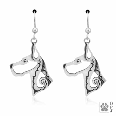 Great Dane Cropped Ears Earrings
